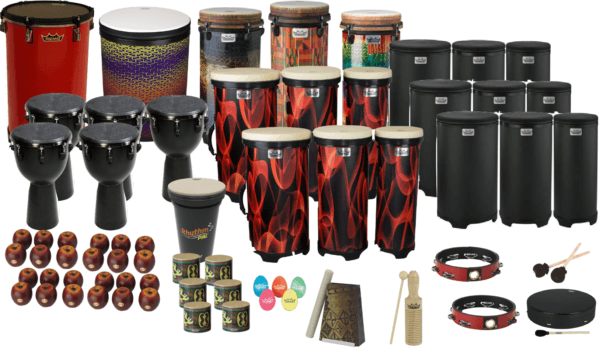 School set of drums.