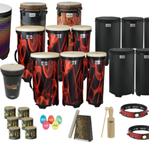 The school drums.