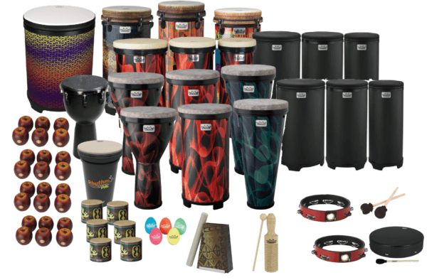 A school drum kits.