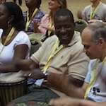 Men drumming