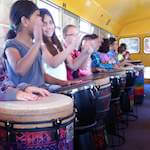 Kids on the DrumBus drumming
